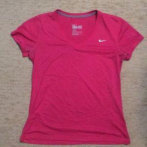 Women's NIKE dri-fit v neck shirt